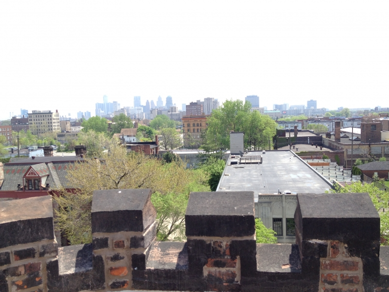 A view of Detroit from the roof.